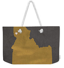 University Of Idaho Vandals Moscow College Town State Map Poster Series No 046 Weekender Tote Bag by Design Turnpike