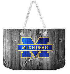 University Of Michigan Weekender Tote Bag by Dan Sproul