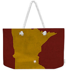 University Of Minnesota Golden Gophers Minneapolis College Town State Map Poster Series No 066 Weekender Tote Bag by Design Turnpike
