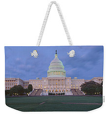 Us Capitol Building At Dusk, Washington Weekender Tote Bag by Panoramic Images