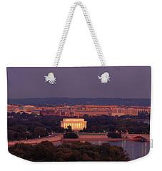 Usa, Washington Dc, Aerial, Night Weekender Tote Bag by Panoramic Images