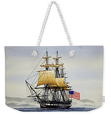 Uss Constitution Weekender Tote Bag by James Williamson