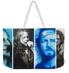 Eddie Vedder - ' Vedder Mosaic I ' Weekender Tote Bag by Christian Chapman Art