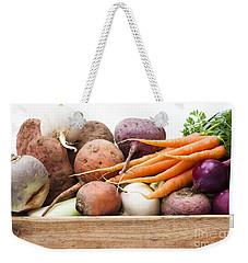 Veg Box Weekender Tote Bag by Anne Gilbert
