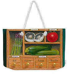 Vegetable Shelf Weekender Tote Bag by Brian James