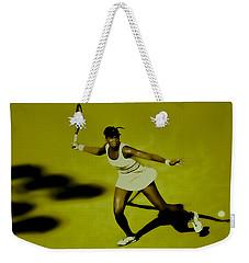 Venus Williams In Action Weekender Tote Bag by Brian Reaves