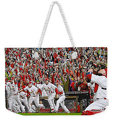 Victory - St Louis Cardinals Win The World Series Title - Friday Oct 28th 2011 Weekender Tote Bag by Dan Haraga