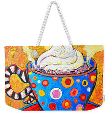 Viennese Cappuccino Whimsical Colorful Coffee Cup Weekender Tote Bag by Ana Maria Edulescu