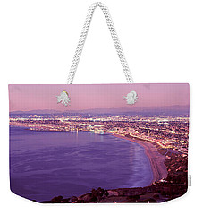 View Of Los Angeles Downtown Weekender Tote Bag by Panoramic Images