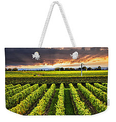 Vineyard At Sunset Weekender Tote Bag by Elena Elisseeva