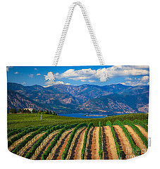 Vineyard In The Mountains Weekender Tote Bag by Inge Johnsson