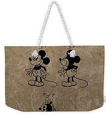 Vintage Mickey Mouse Patent Weekender Tote Bag by Dan Sproul