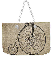 Vintage Penny-farthing Bicycle Illustration Weekender Tote Bag by Dan Sproul