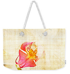 Vintage White Orchid Weekender Tote Bag by Delphimages Photo Creations