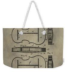 Violin Patent Weekender Tote Bag by Dan Sproul