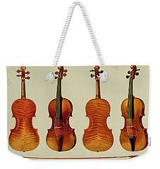 Violins Weekender Tote Bag by Alfred James Hipkins