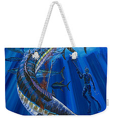 Wahoo Spear Weekender Tote Bag by Carey Chen