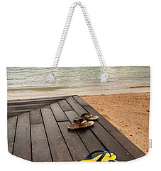 Waiting For Feet Weekender Tote Bag by Gary Slawsky