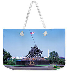 War Memorial With Washington Monument Weekender Tote Bag by Panoramic Images