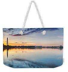 Washington Dc Panorama Weekender Tote Bag by Sebastian Musial