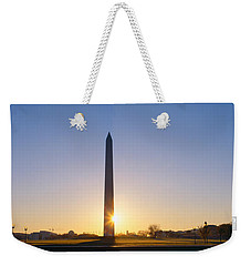 Washington Monument At Sunrise Weekender Tote Bag by Panoramic Images