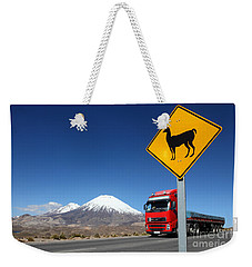 Watch Out For Llamas Weekender Tote Bag by James Brunker
