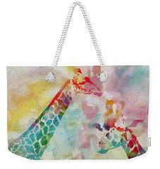 Watercolor Giraffes Weekender Tote Bag by Dan Sproul
