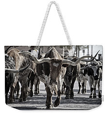 Watercolor Longhorns Weekender Tote Bag by Joan Carroll