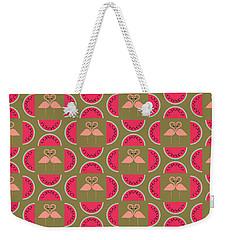 Watermelon Flamingo Print Weekender Tote Bag by Susan Claire