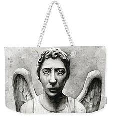 Weeping Angel Don't Blink Doctor Who Fan Art Weekender Tote Bag by Olga Shvartsur