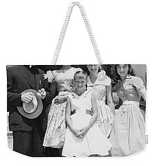 Welk And The Lennon Sisters Weekender Tote Bag by Underwood Archives