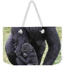 Western Lowland Gorilla Walking Weekender Tote Bag by Duncan Usher