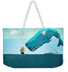 Whale Weekender Tote Bag by Mark Ashkenazi