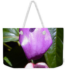 When The Anthurium Sees Its Shadow Weekender Tote Bag by Barbie Corbett-Newmin