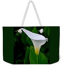 White Calla Weekender Tote Bag by Rona Black