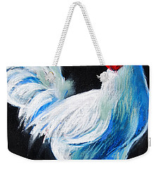 White Chicken Weekender Tote Bag by Mona Edulesco
