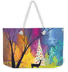 White Christmas Tree Weekender Tote Bag by Munir Alawi