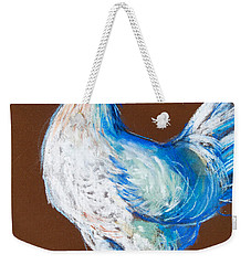 White Hen Weekender Tote Bag by Mona Edulesco
