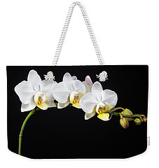 White Orchids Weekender Tote Bag by Adam Romanowicz