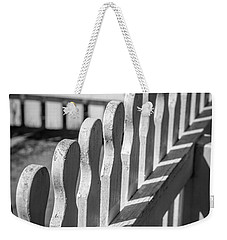 White Picket Fence Portsmouth Weekender Tote Bag by Edward Fielding