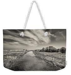 White Swan Weekender Tote Bag by Dave Bowman