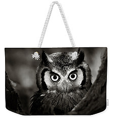 Whitefaced Owl Weekender Tote Bag by Johan Swanepoel