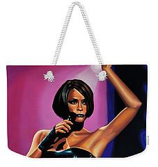 Whitney Houston On Stage Weekender Tote Bag by Paul Meijering