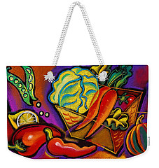 Very Healthy For You Weekender Tote Bag by Leon Zernitsky
