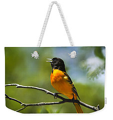 Wild Birds - Baltimore Oriole Weekender Tote Bag by Christina Rollo