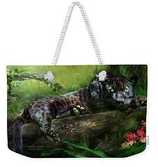 Wildeyes - Panther Weekender Tote Bag by Carol Cavalaris