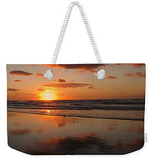 Wildwood Beach Sunrise Weekender Tote Bag by David Dehner