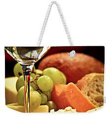 Wine And Cheese Weekender Tote Bag by Elena Elisseeva