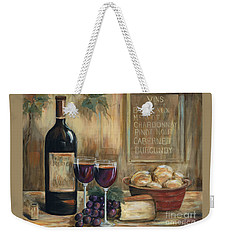 Wine For Two Weekender Tote Bag by Marilyn Dunlap