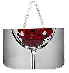 Wine Glass With Rose Weekender Tote Bag by Elena Elisseeva